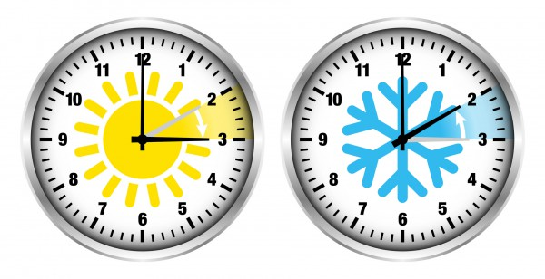 Sommerzeit/Winterzeit Sonne/Schneeflocke Ziffern, Daylight Savings Time